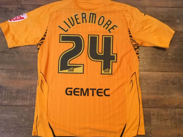 2007 2008 Hull City Livermore Match Worn Home Football Shirt